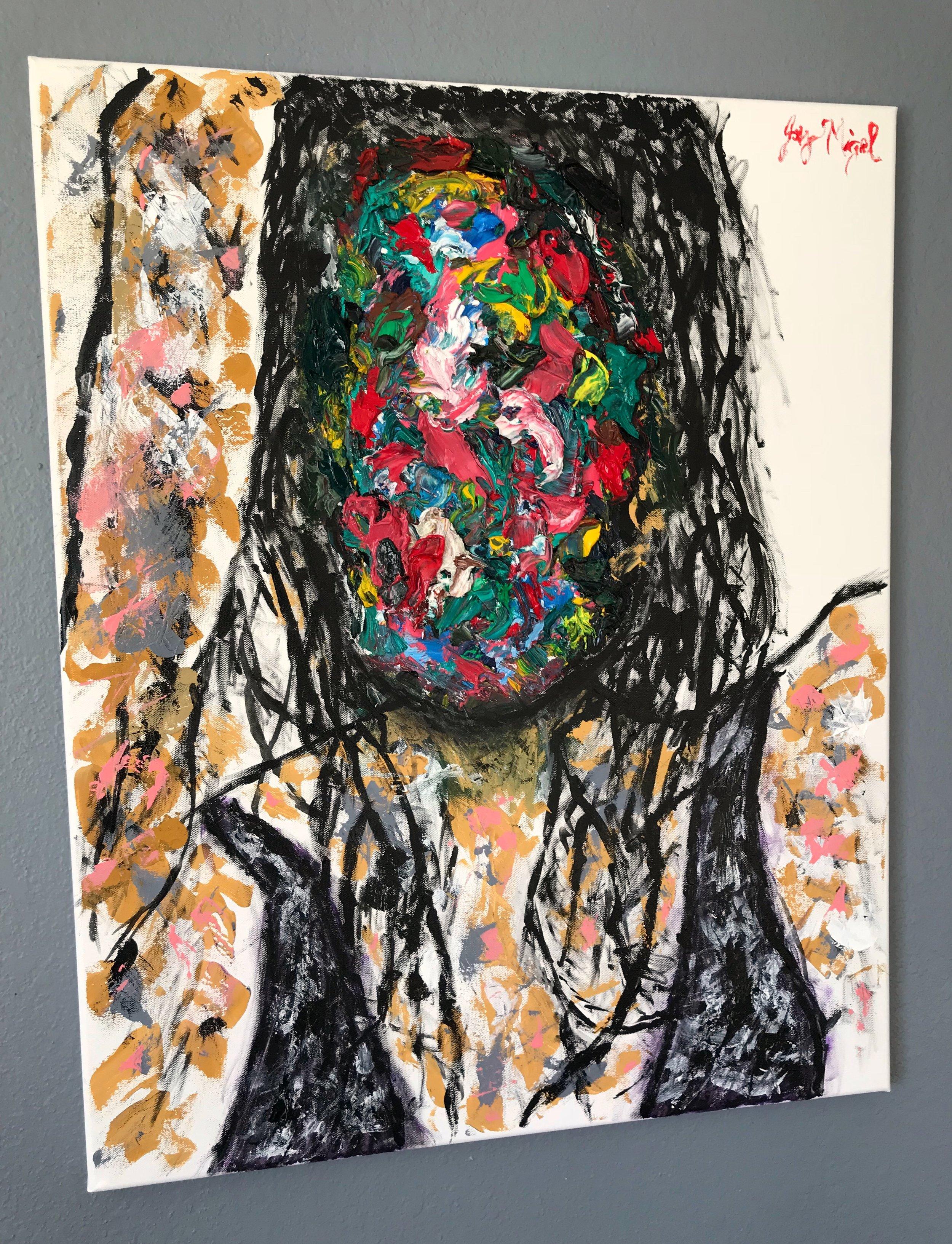 'Persona'  30'' x 24''  Mixed Media on Canvas  $300