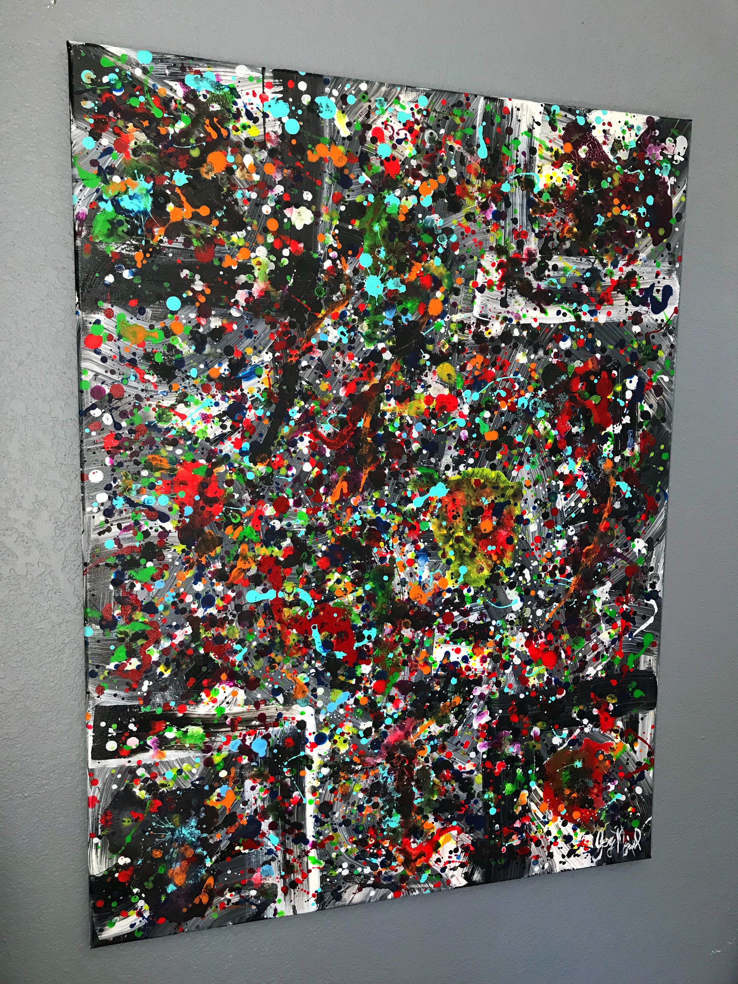 'Urban Decay'  40'' x 30''  Mixed Media on Canvas  $375