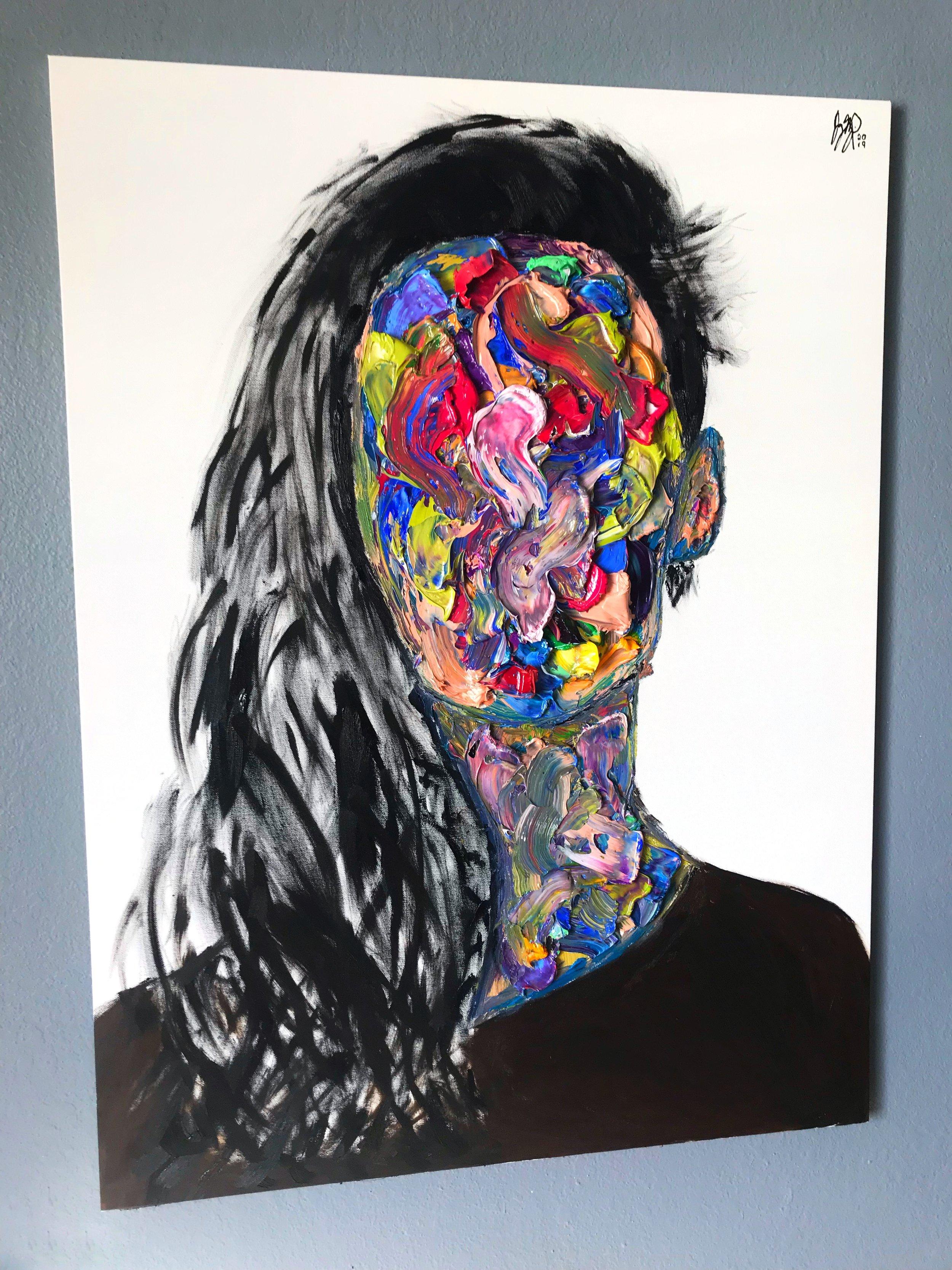 'Asrai'  40'' x 30''  Oil on Canvas  $500