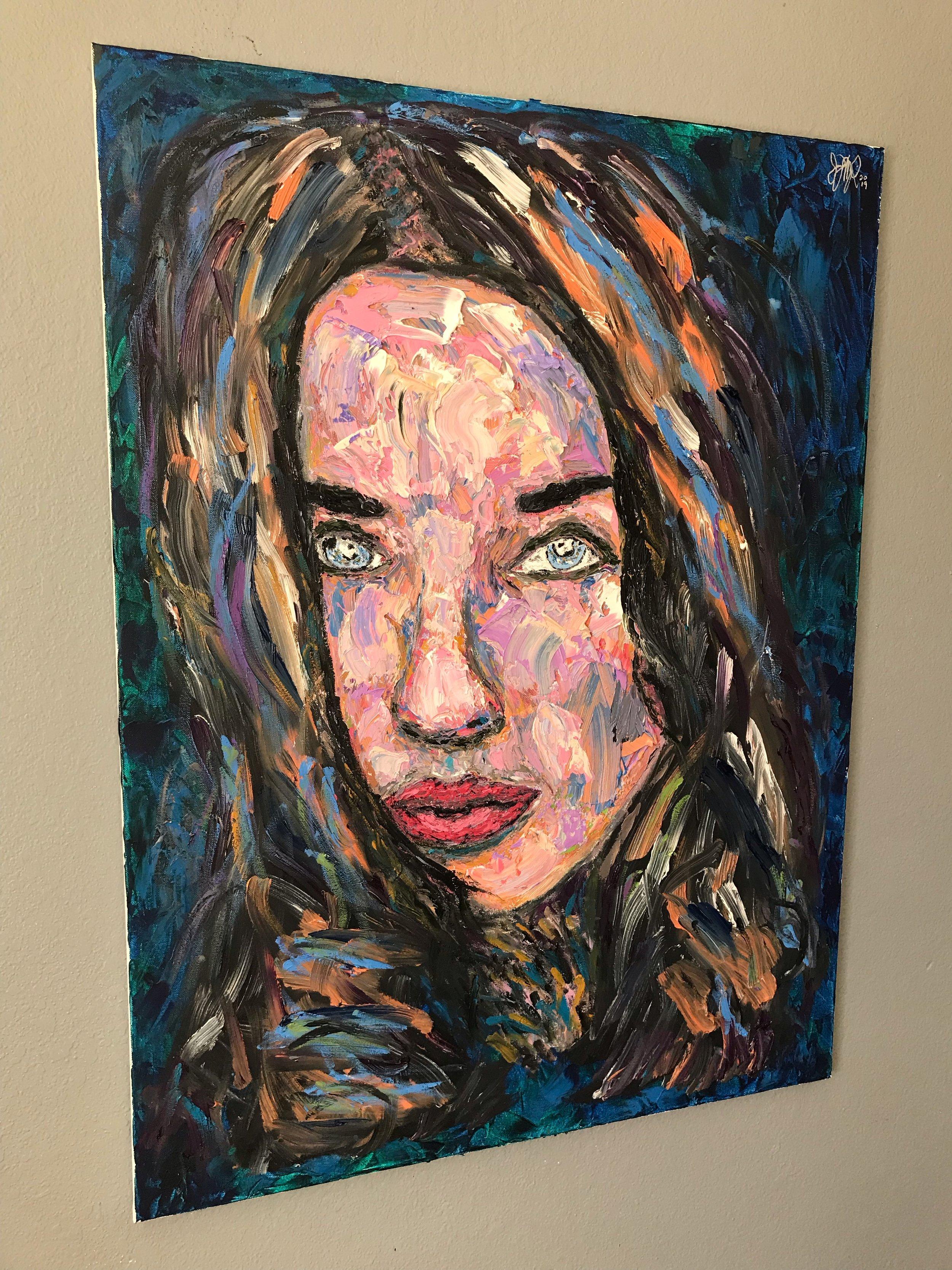 'Milagros'  40'' x 30''  Mixed Media on Canvas  $900
