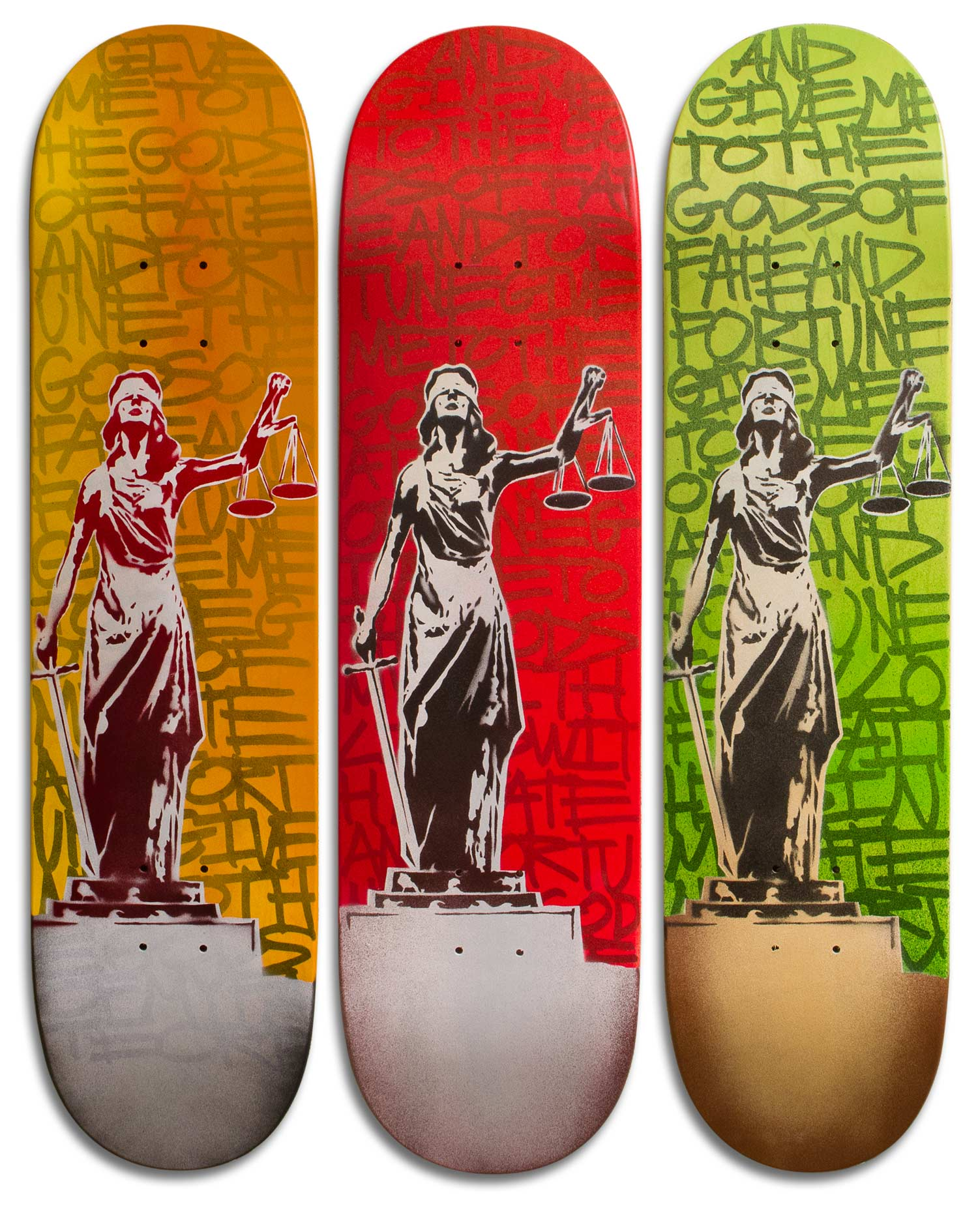 """Fate and Fortune"" Skateboard Deck Series"