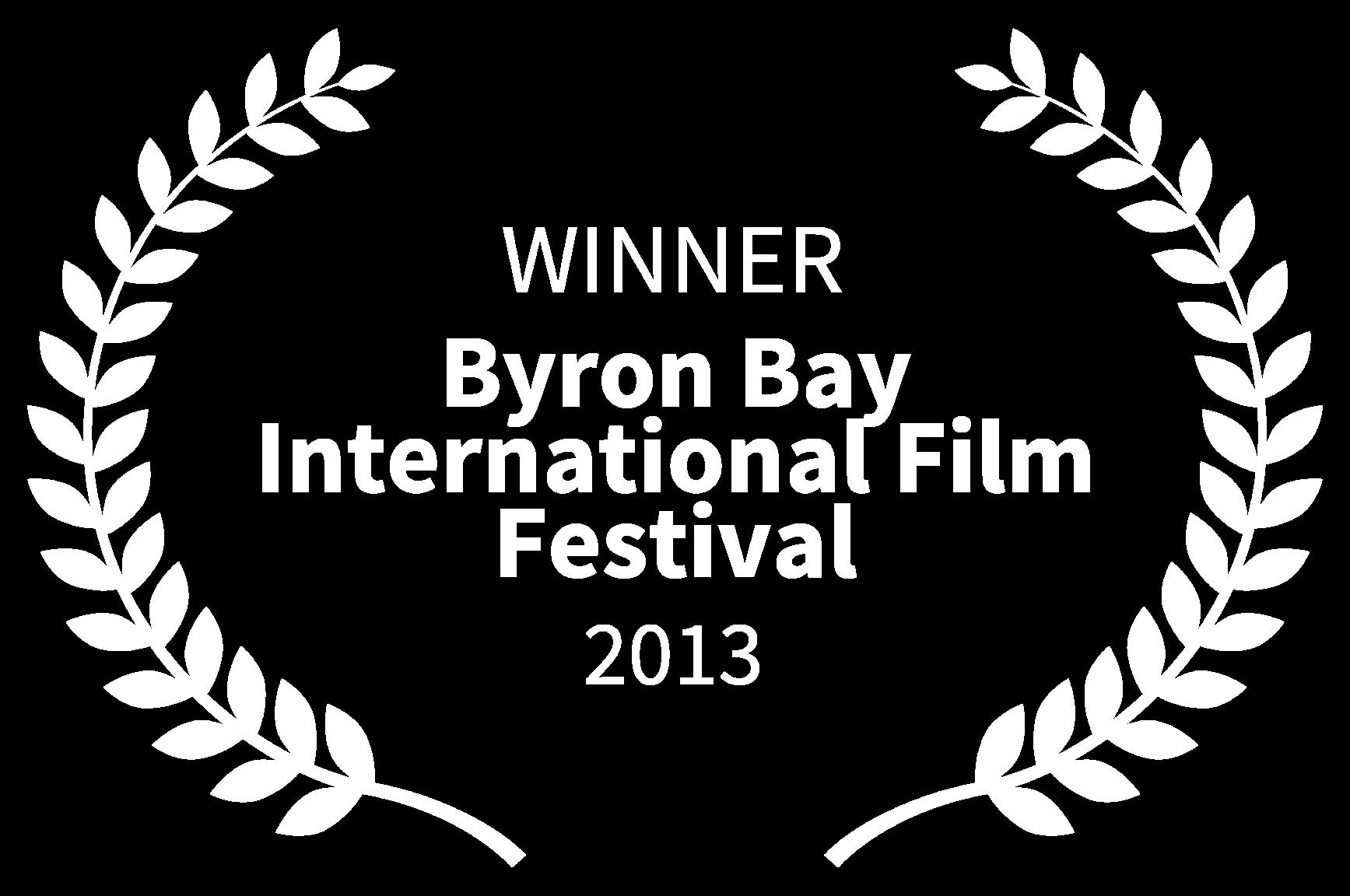 WINNER - Byron Bay International Film Festival - 2013.png
