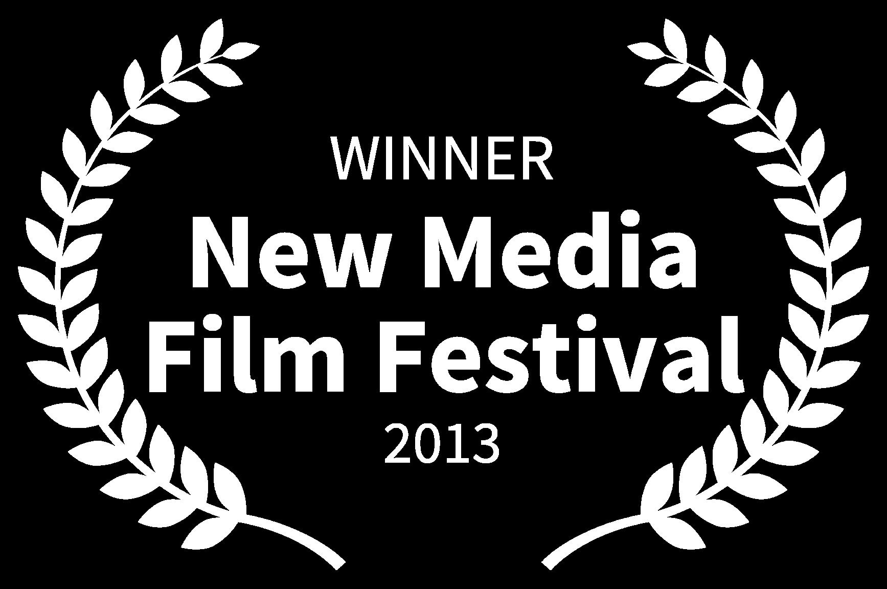 WINNER - New Media Film Festival - 2013.png