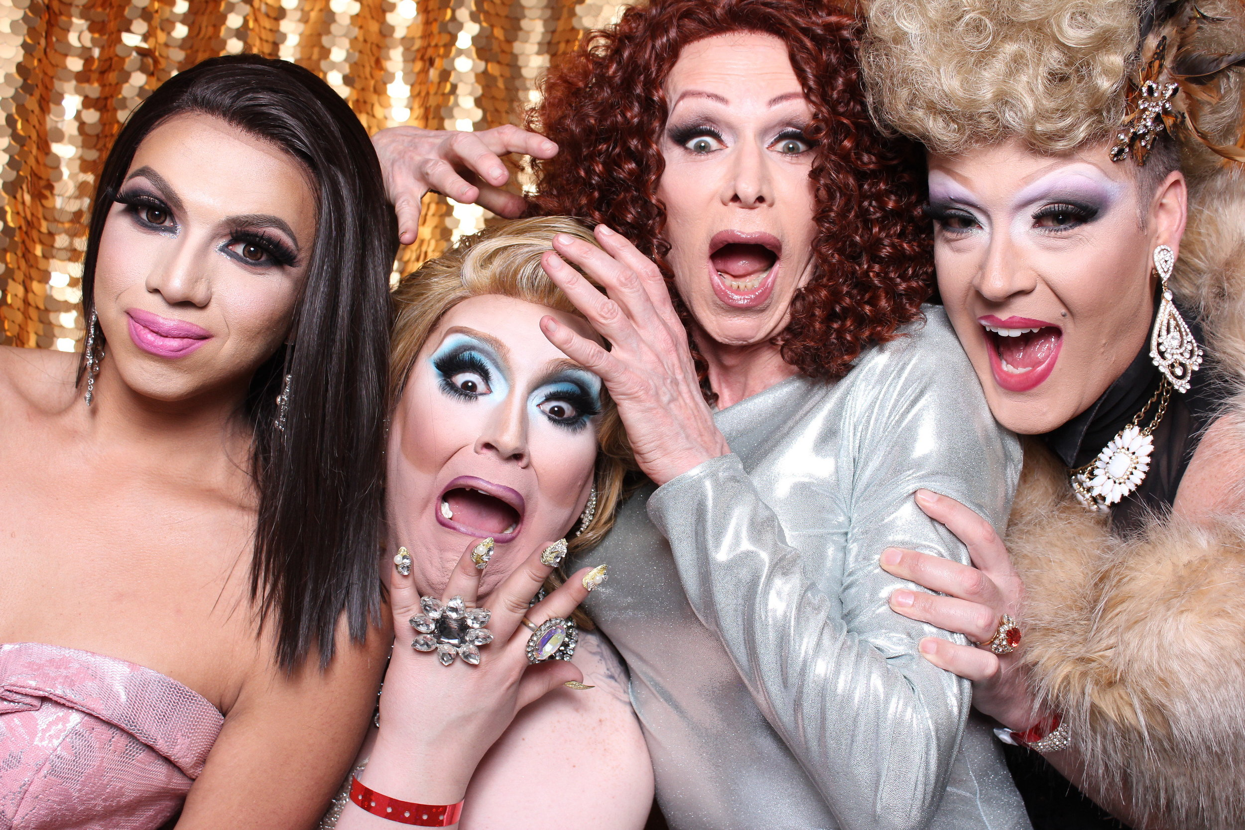 Drag queens Academy of Friends photobooth
