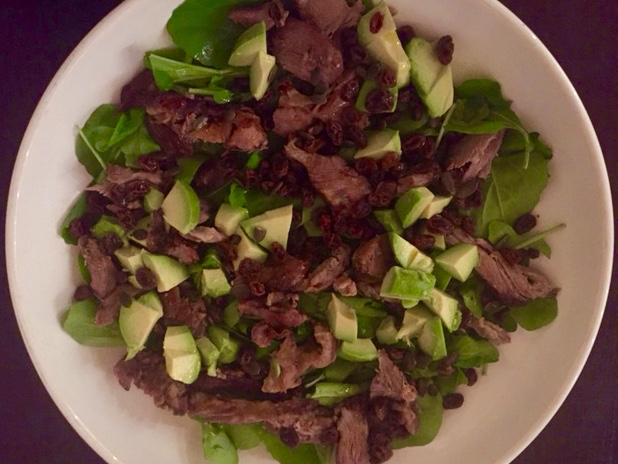 slow cooked spring lamb salad
