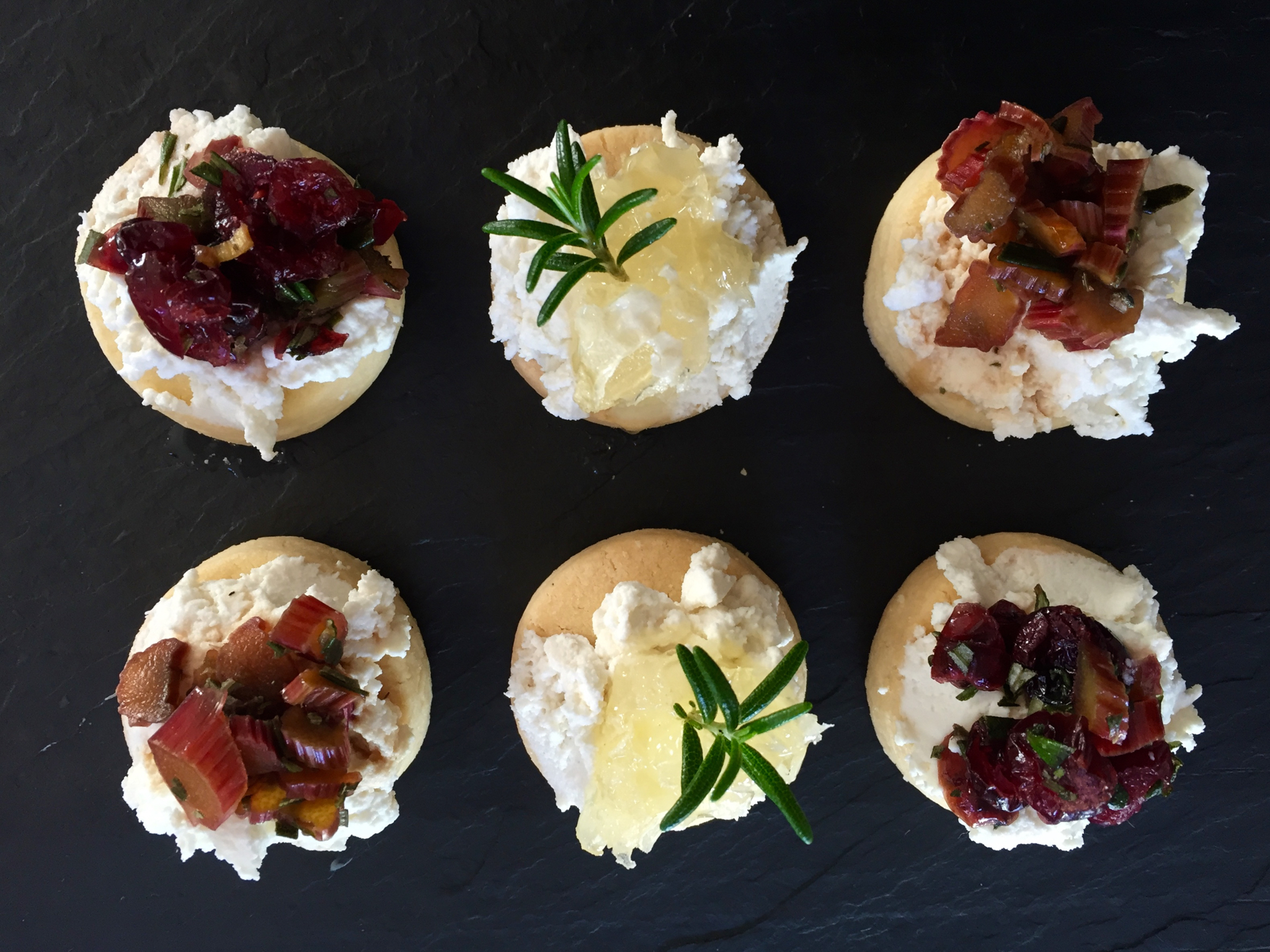 rosemary, shortbread and ricotta petit fours