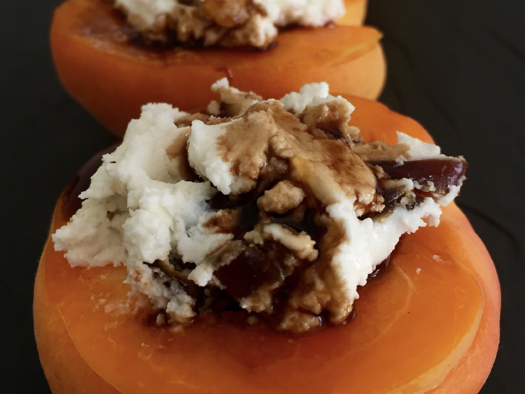 apricots stuffed with soft cheese