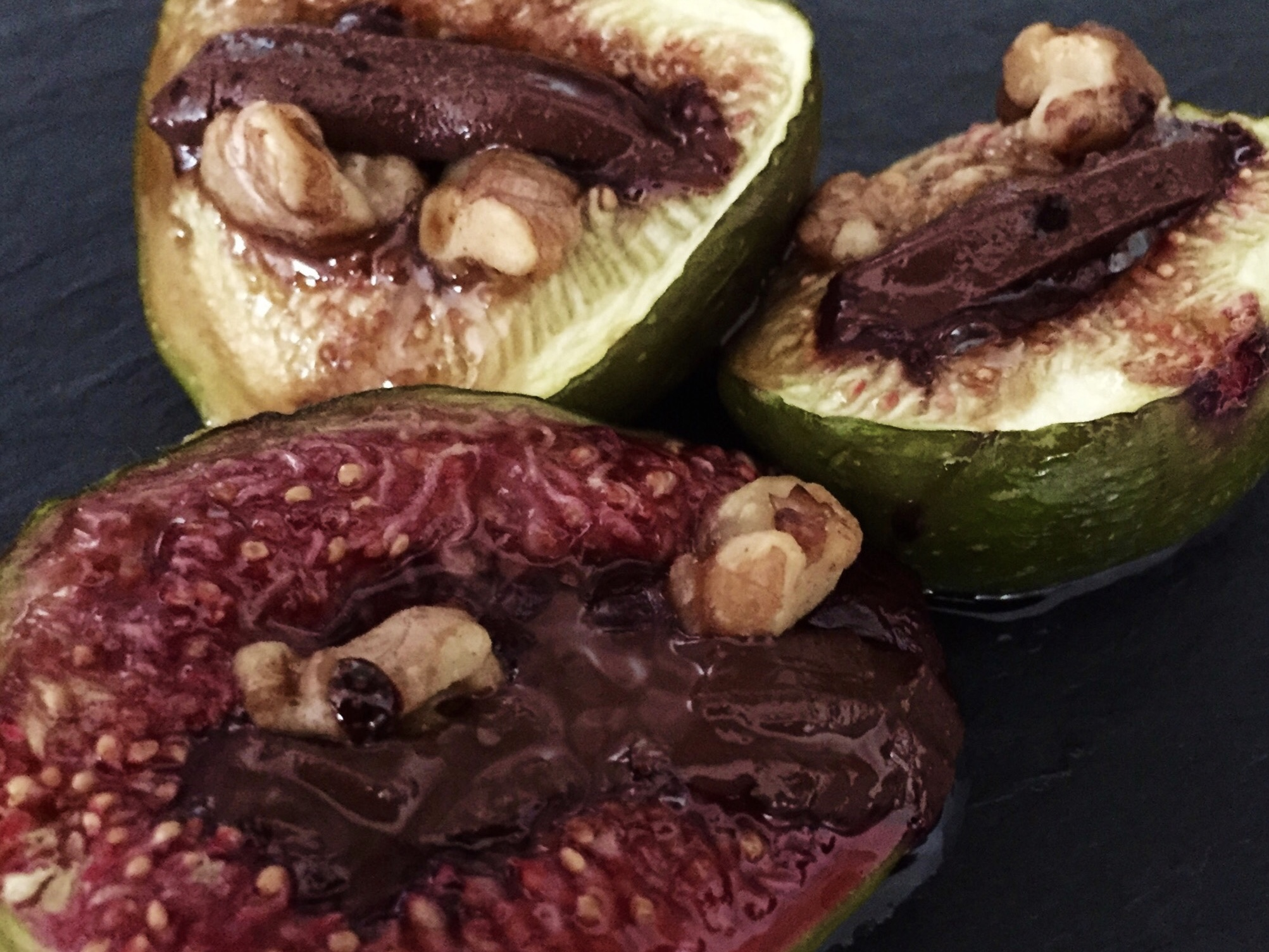 baked chocolate figs