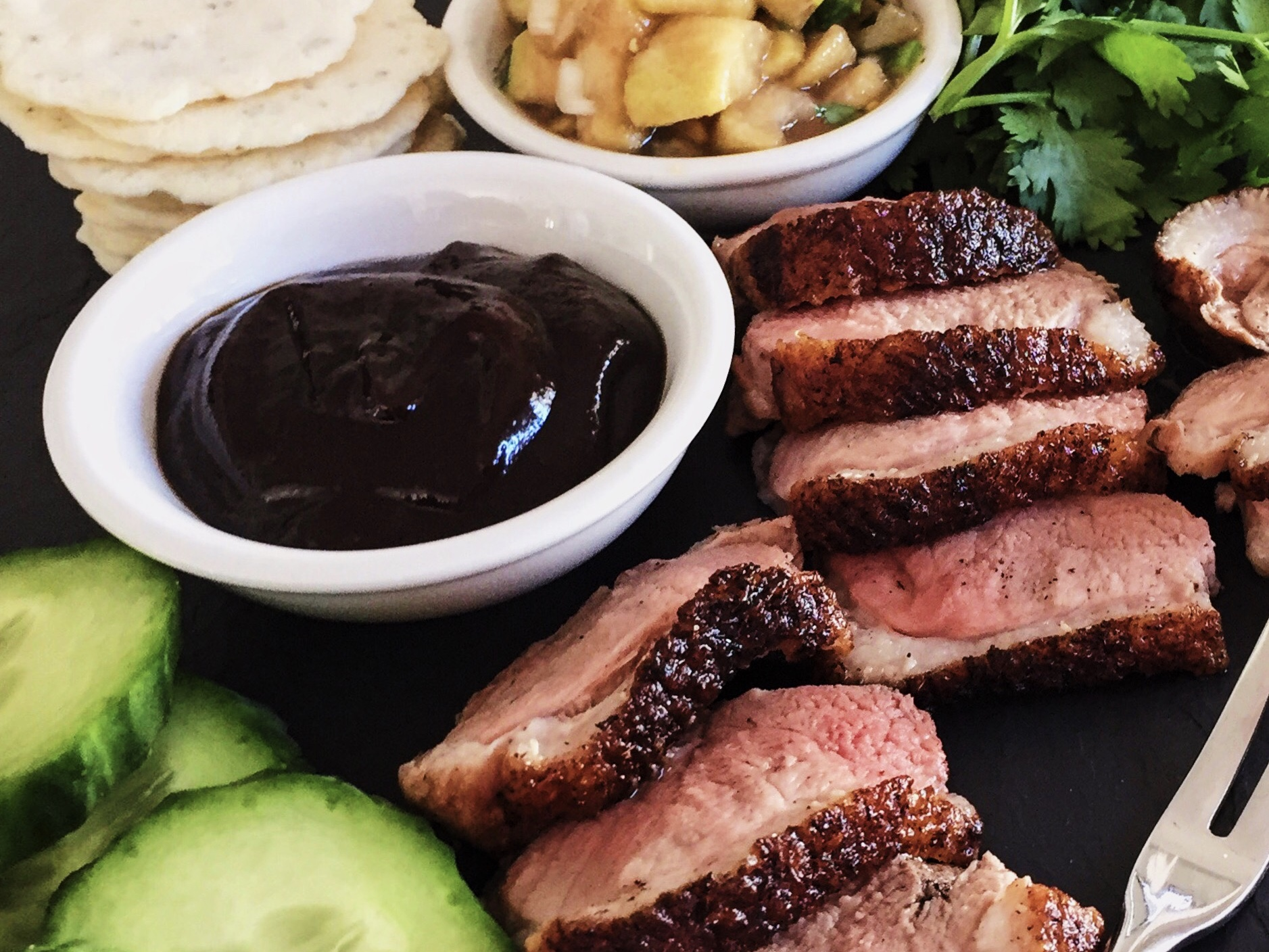 Peking duck antipasto