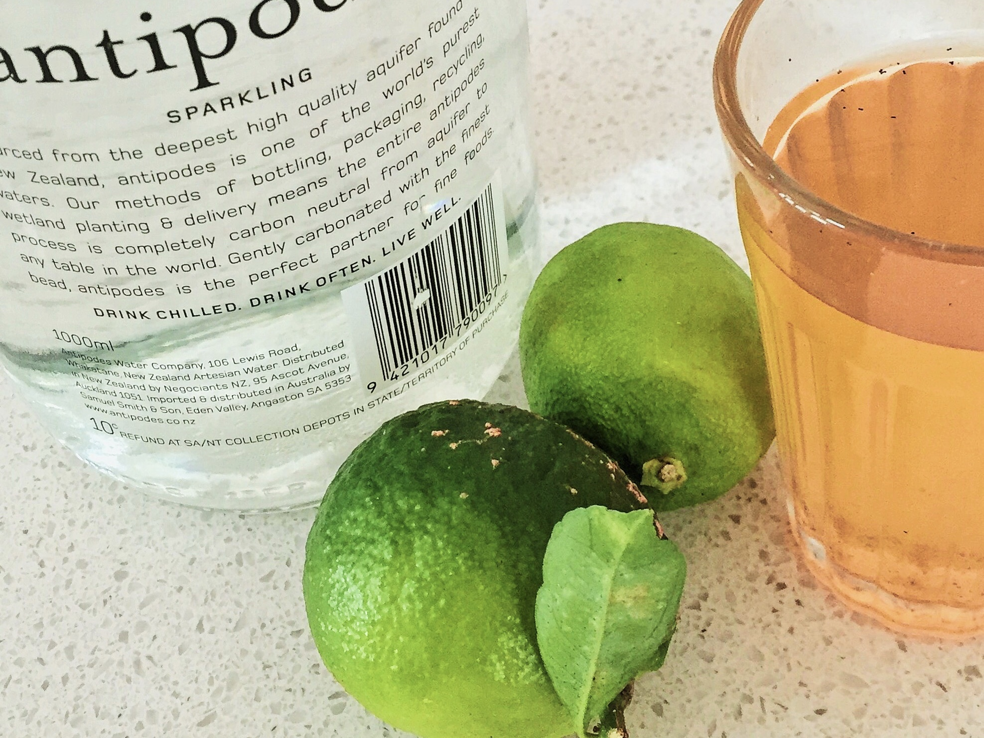 quince and lime soda