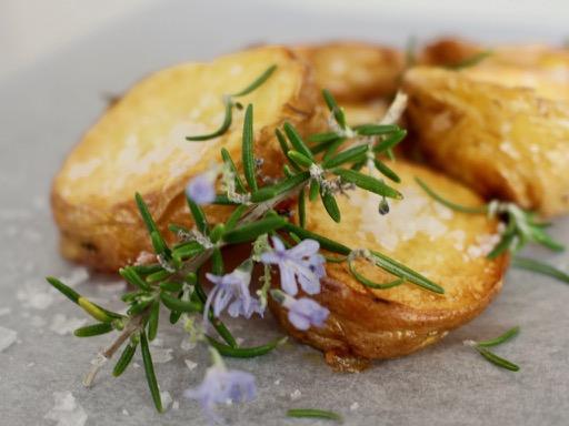 potatoes, rosemary and salt