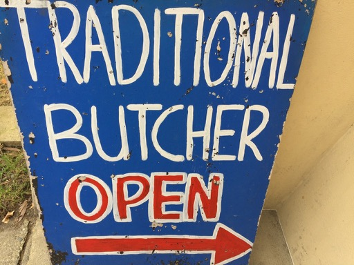 traditional butcher