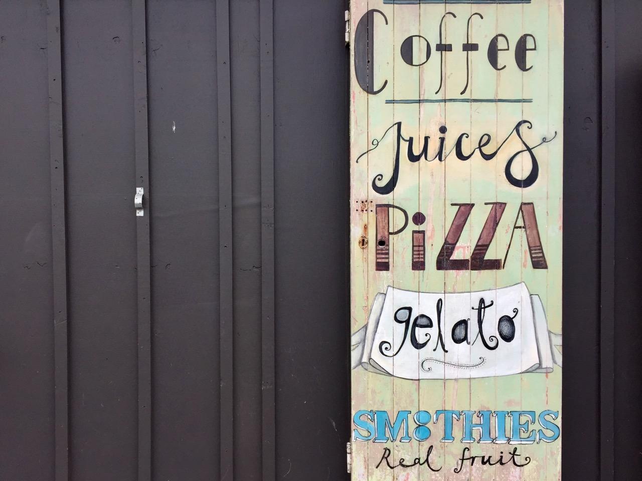 coffee juices pizza gelato