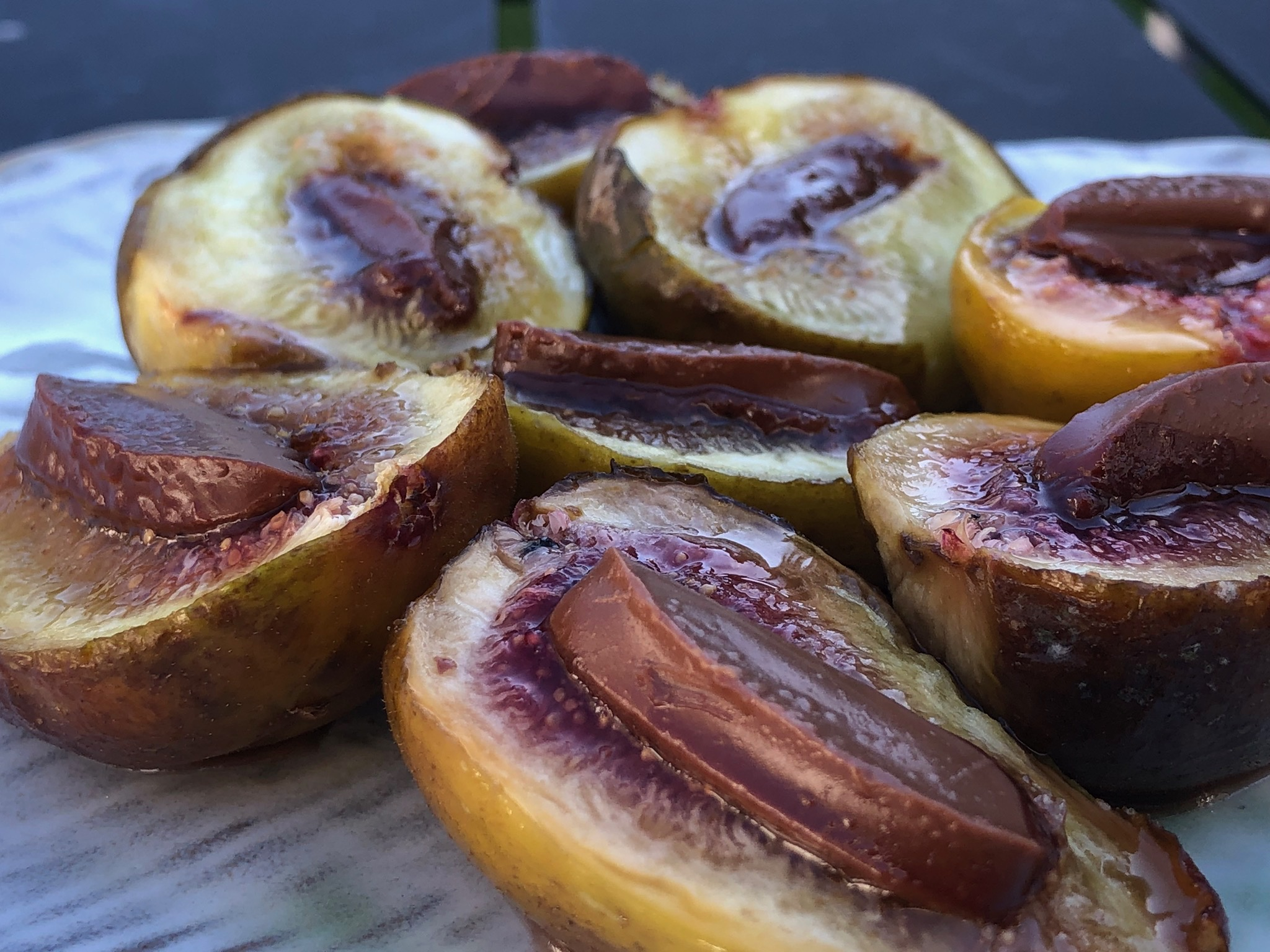 baked fresh figs and chocolate
