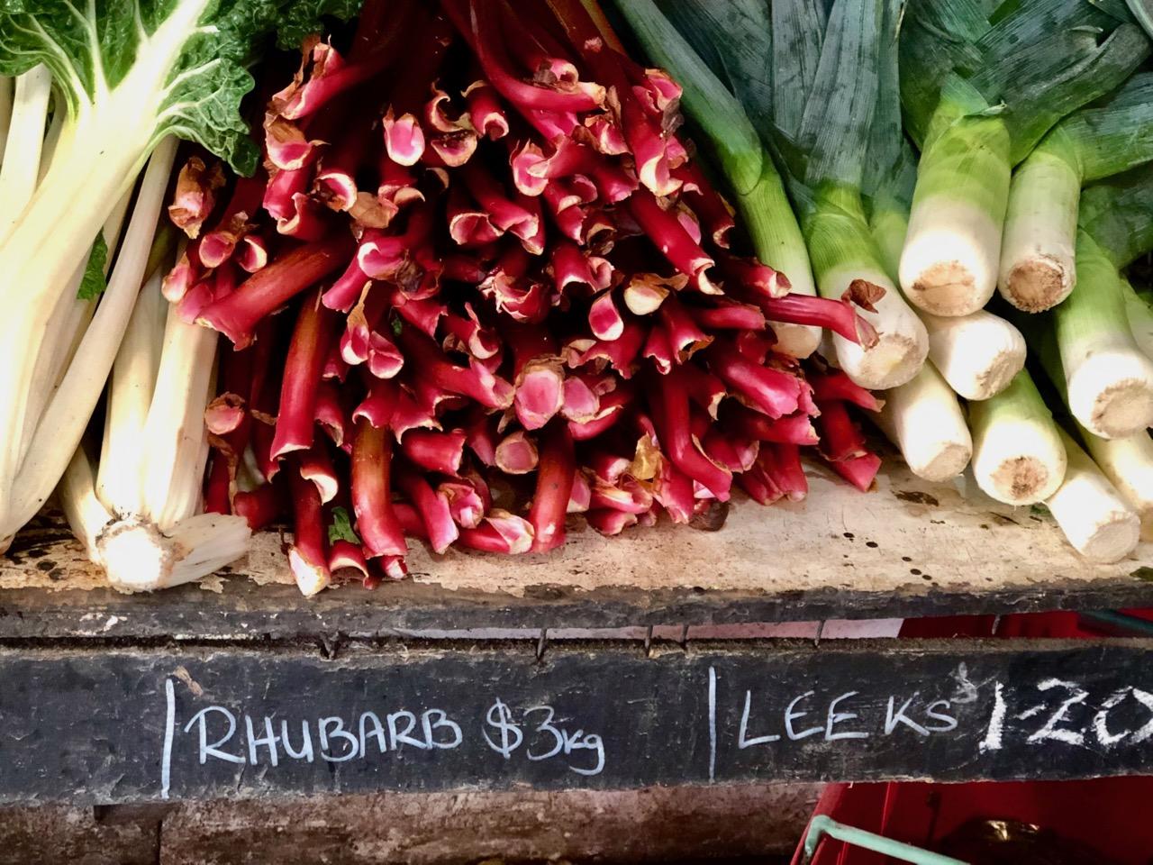 rhubarb and leeks