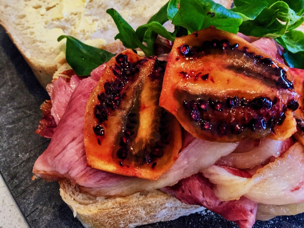 bacon tamarillo butty