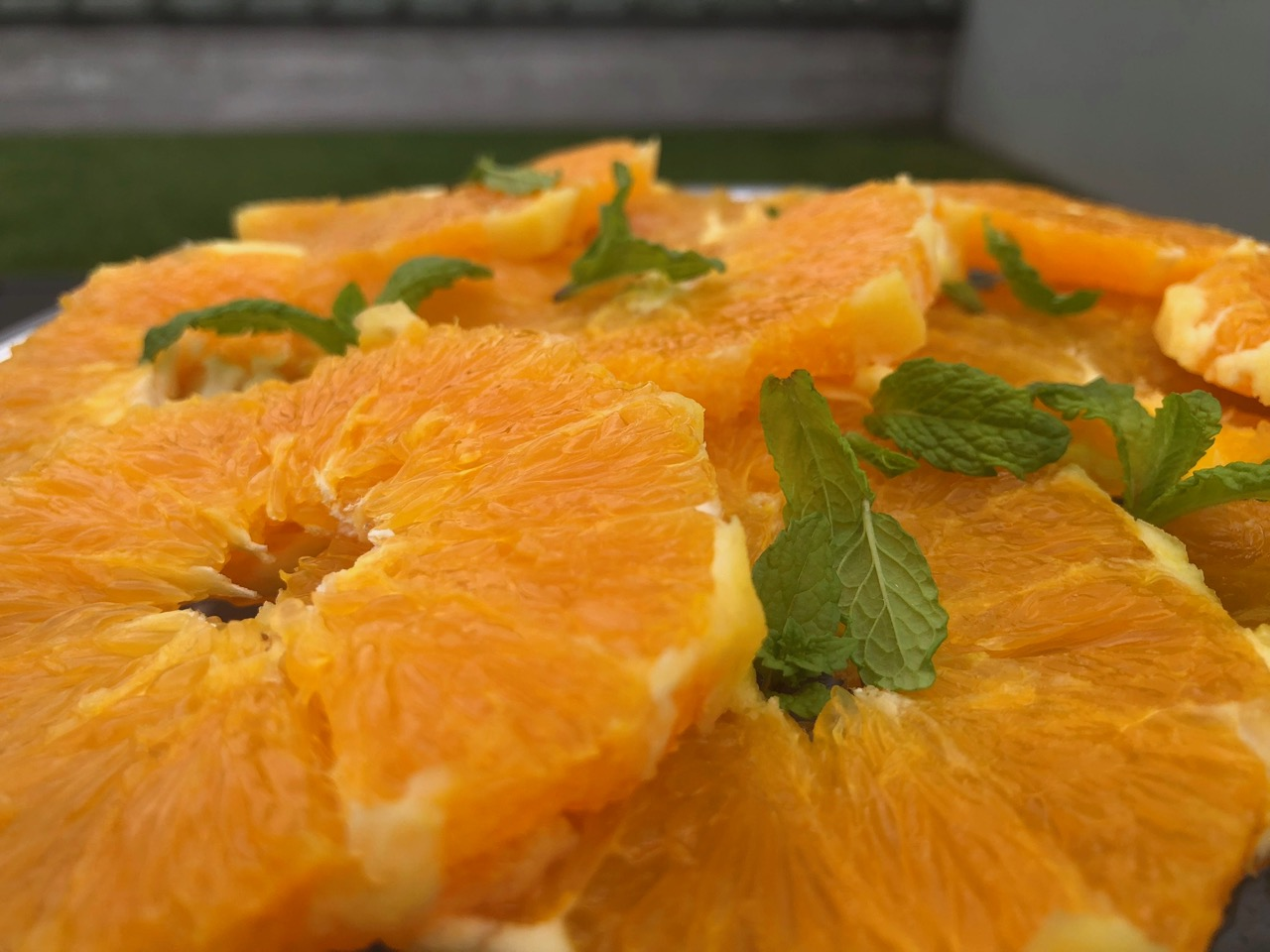 orange and mint platter