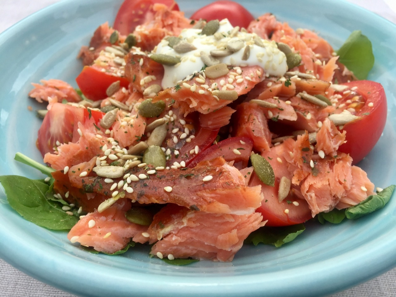 smoked fish tomato salad