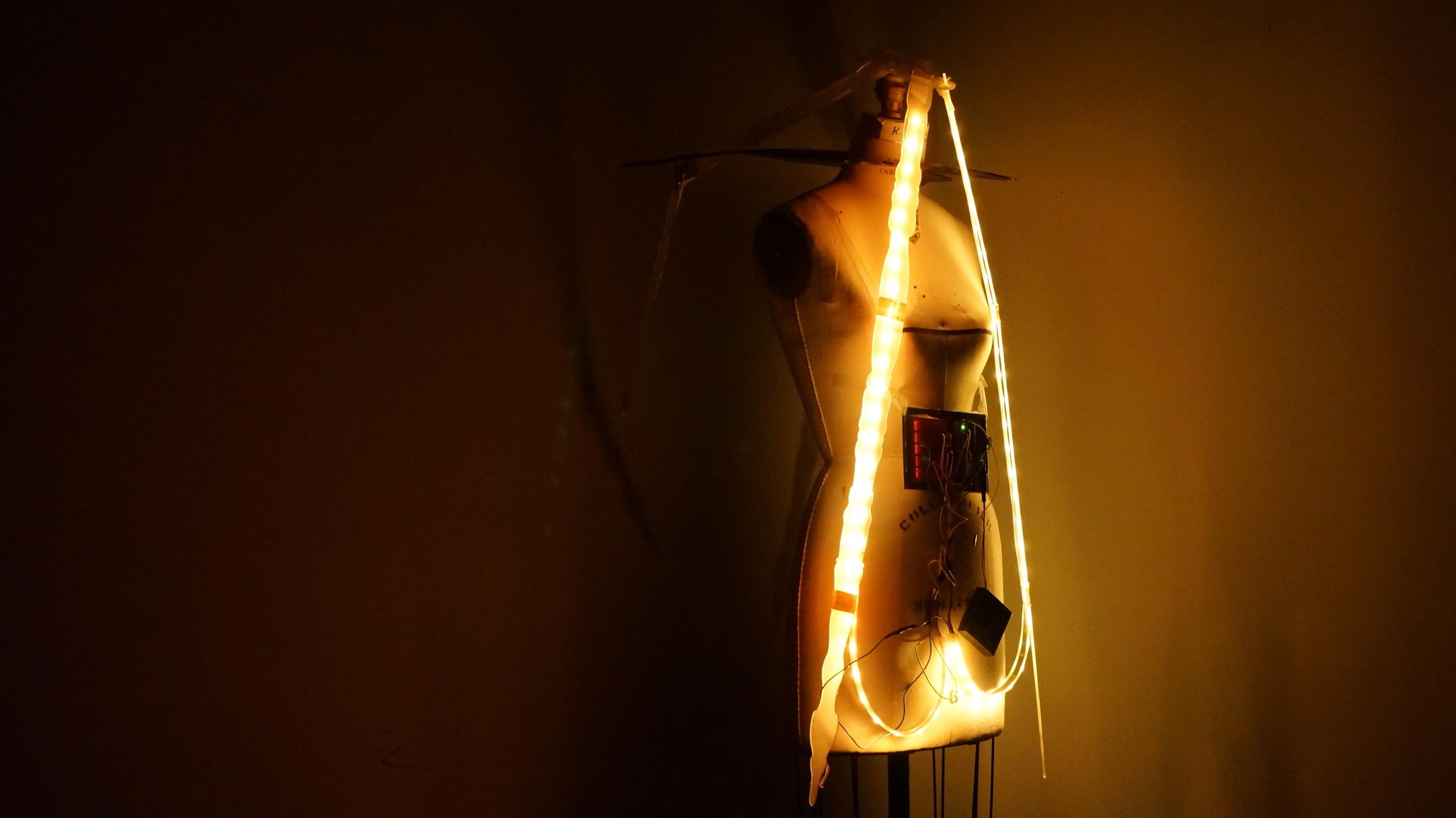 Prototype: Light effect on acrylic shapes