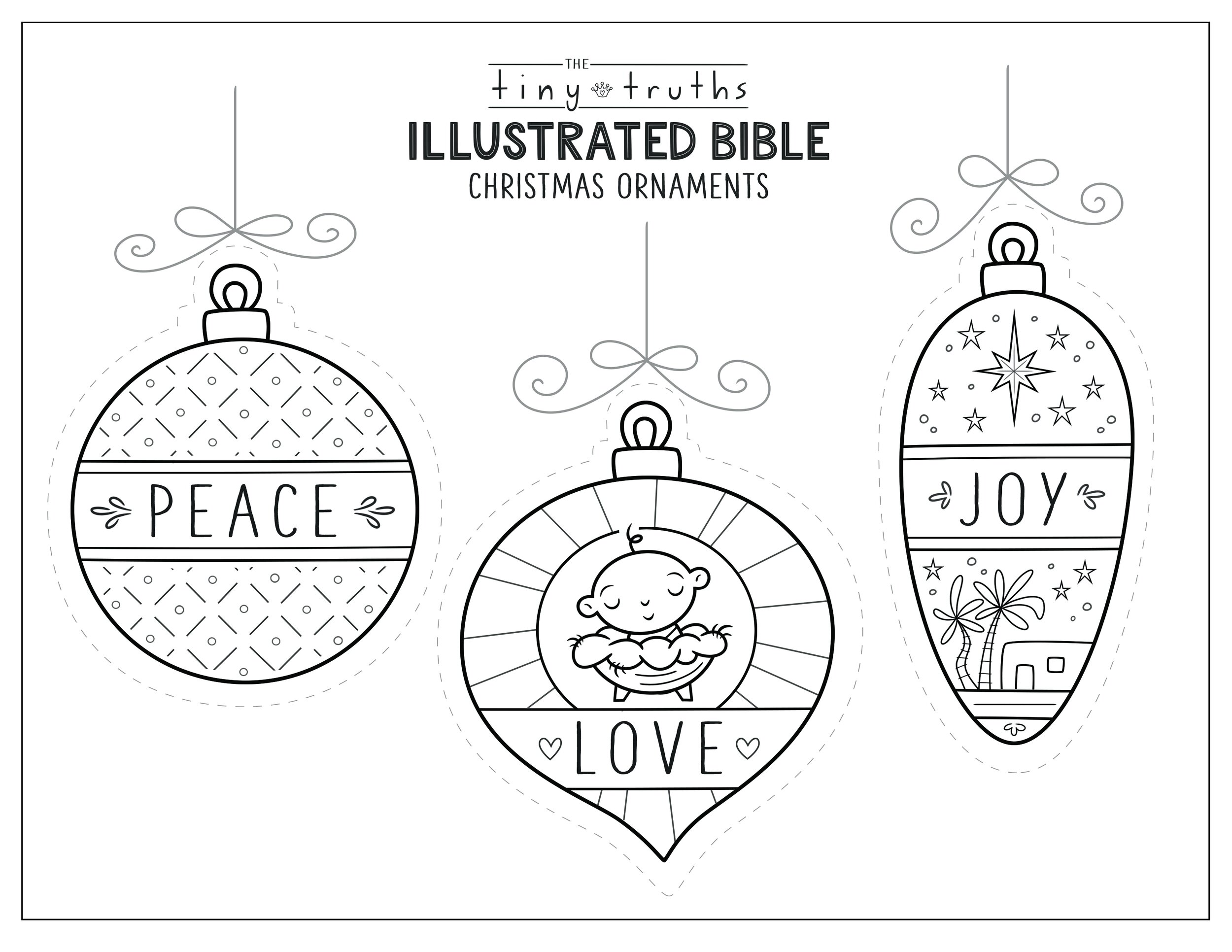 Tiny Truths Illustrated Bible Christmas Coloring And Crafts — Tiny Truths  Illustrated Bible