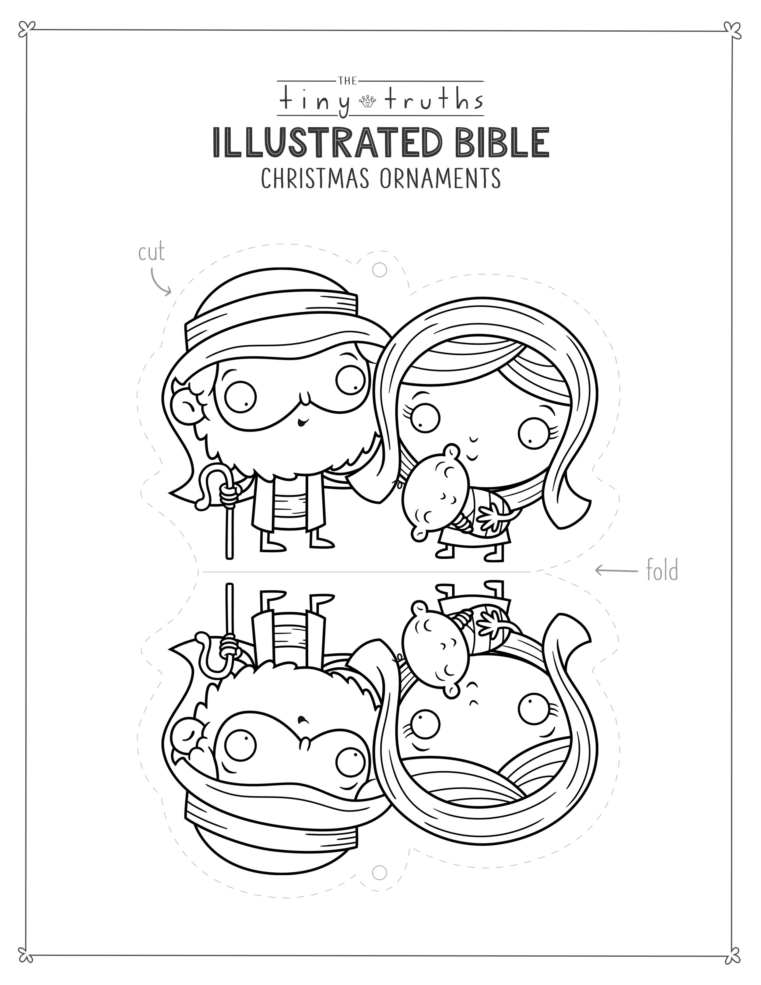 Tiny Truths Illustrated Bible Christmas Coloring And Crafts Tiny Truths Illustrated Bible