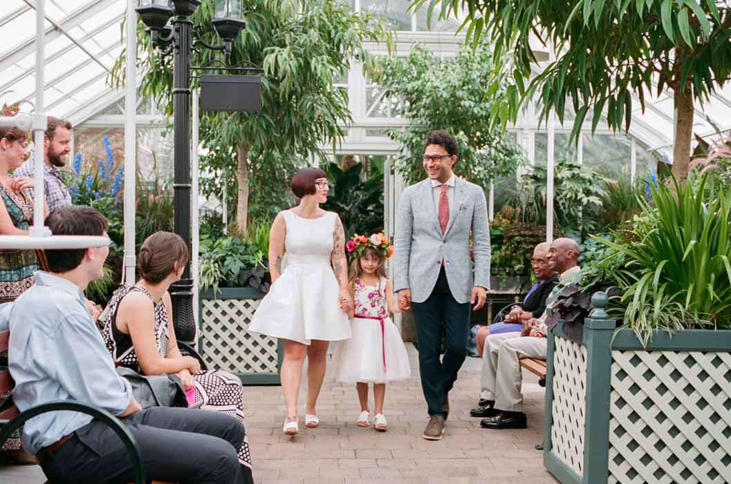 Ceremony portraits at a Volunteer Park Conservatory Wedding in Seattle.