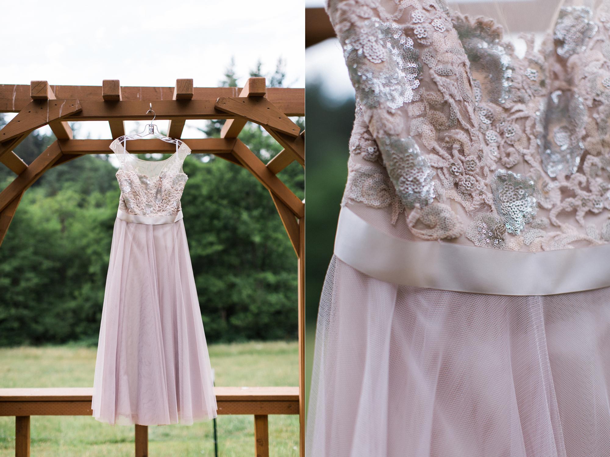 Watters lavender wedding dress for a western Washington elopement.