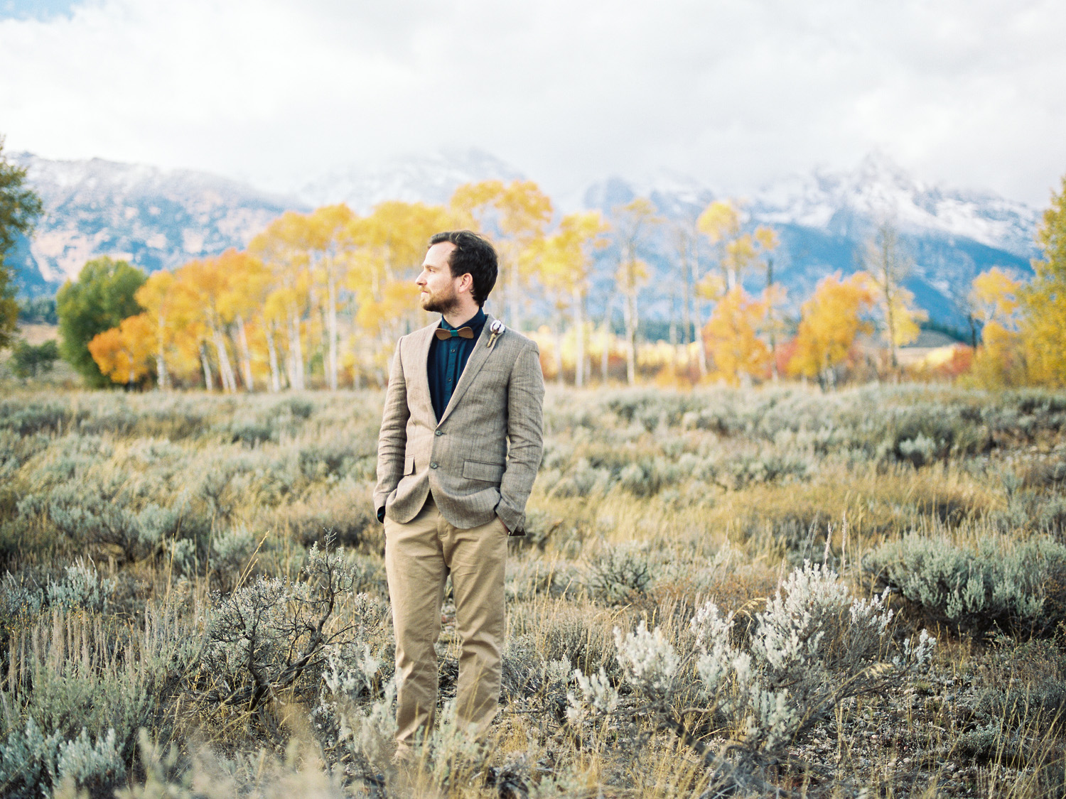 Grand Teton National Park Fall Same Sex Wedding Photography by Alexandra Knight Photography