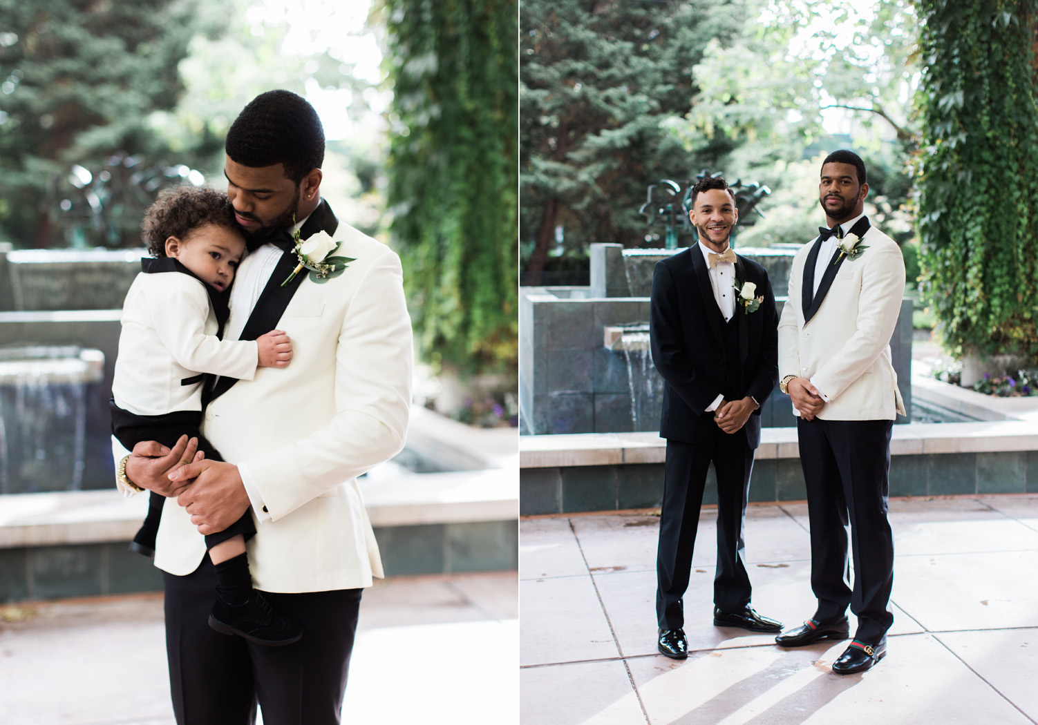 black tie groom wedding photography bellevue club.jpg