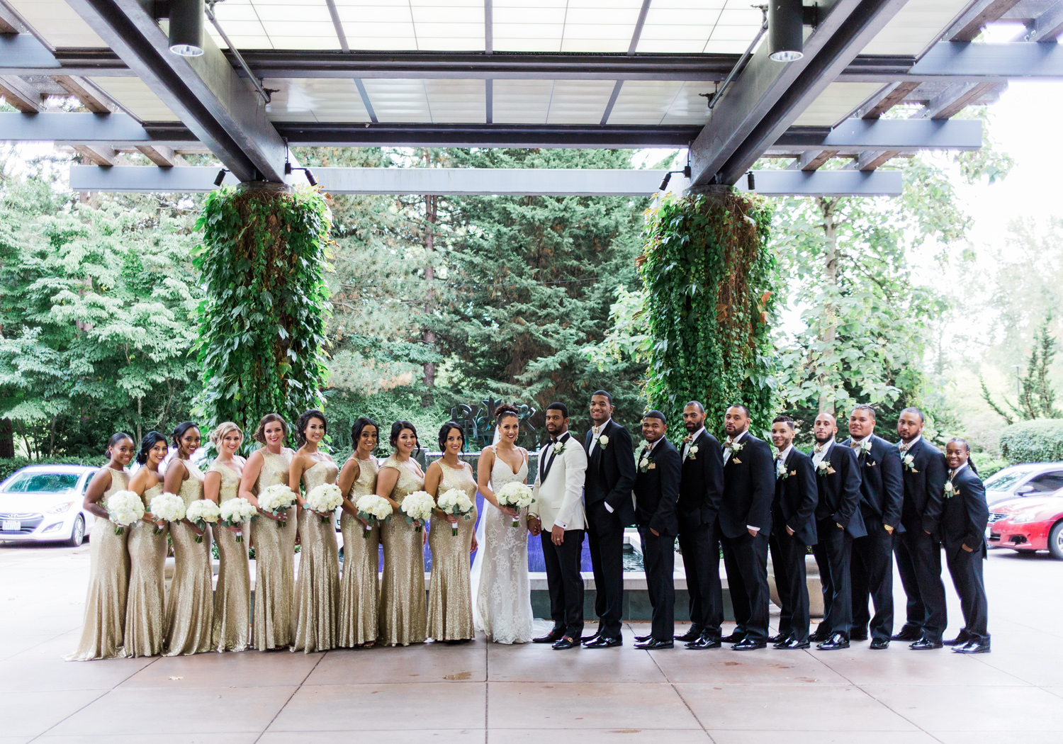black tie bridal party bellevue club wedding seattle.jpg