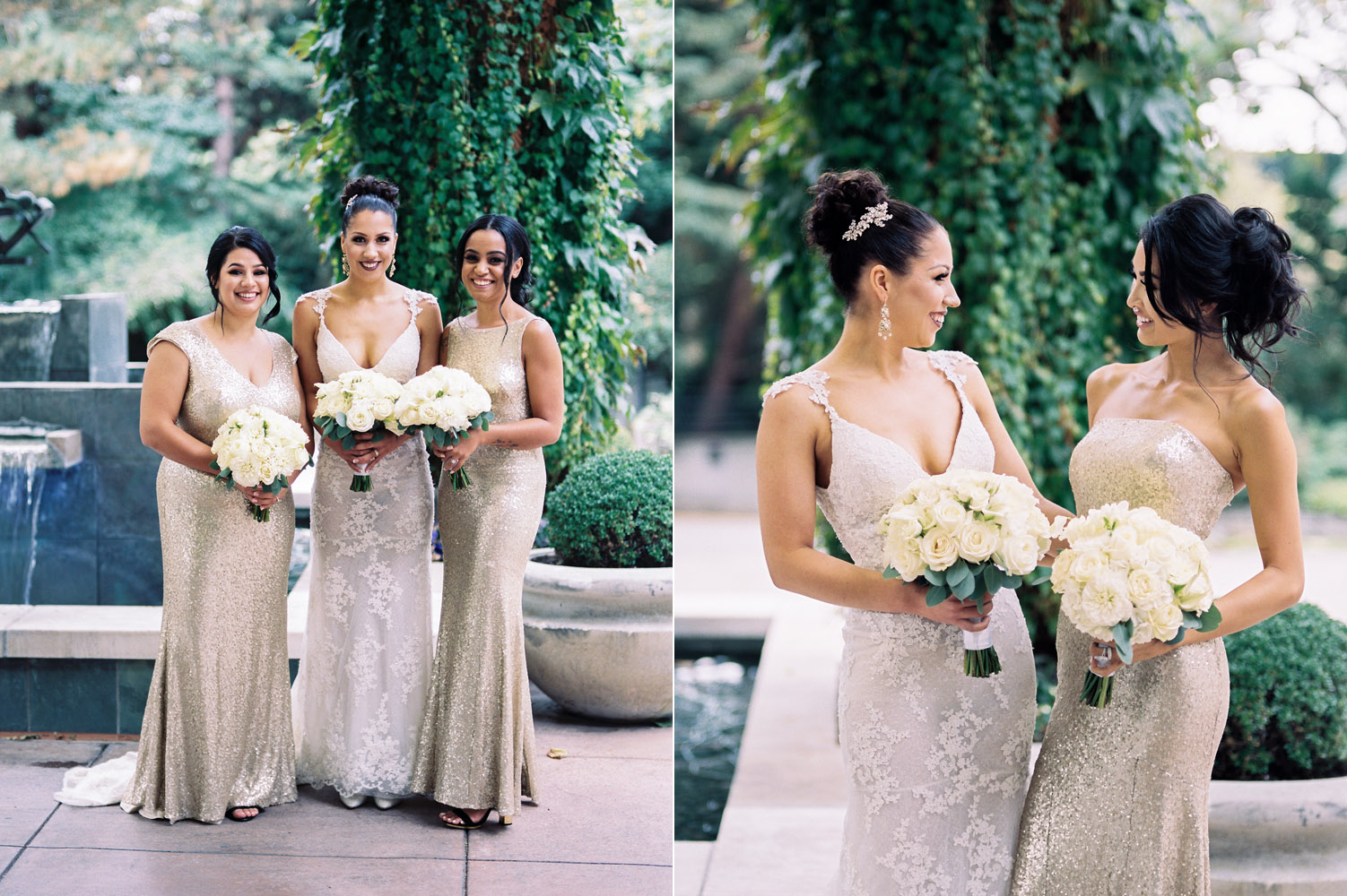 Bridal Party Portraits at The Bellevue Club Wedding Photography