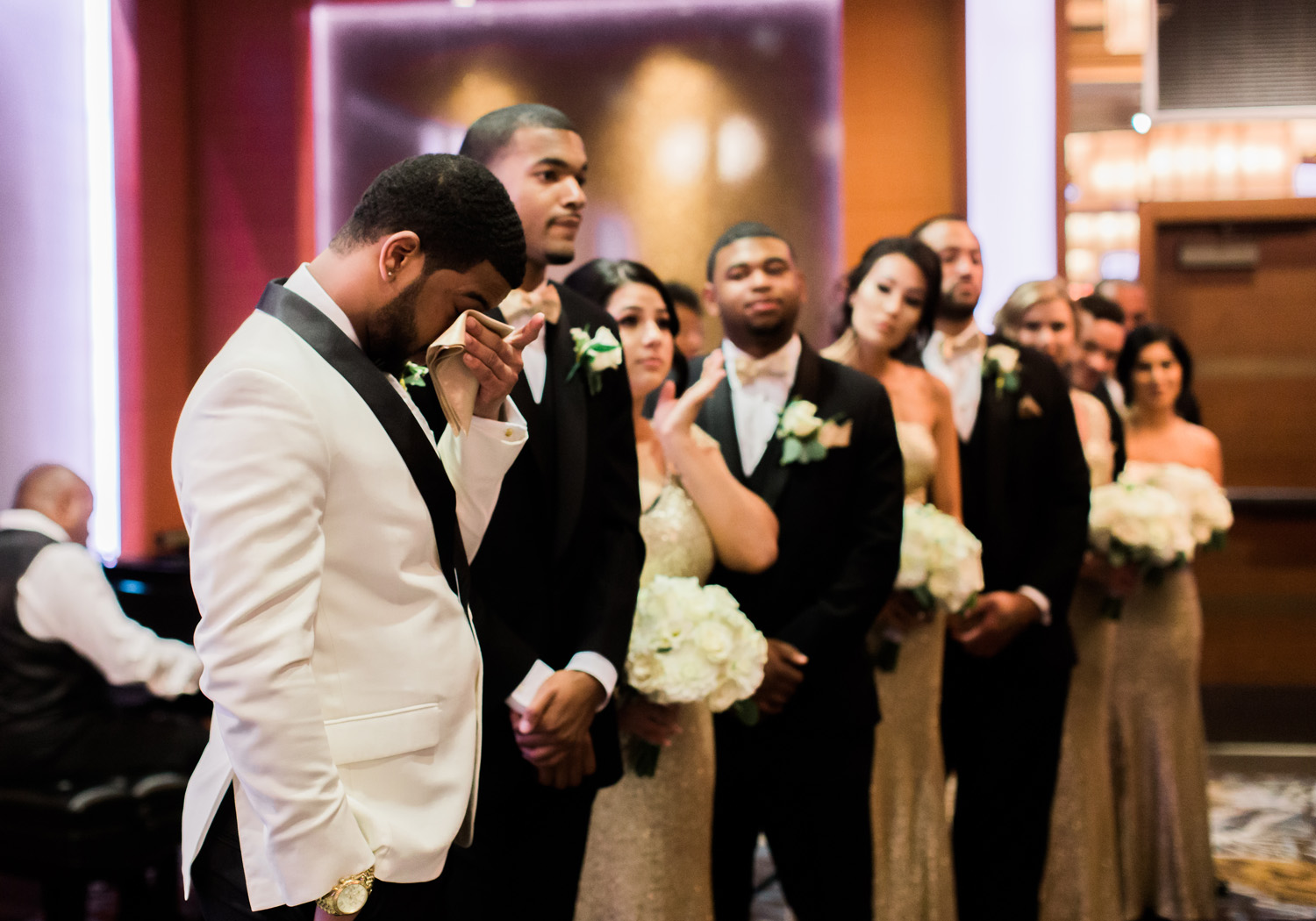 bellevue club seattle wedding ceremony groom first look.jpg