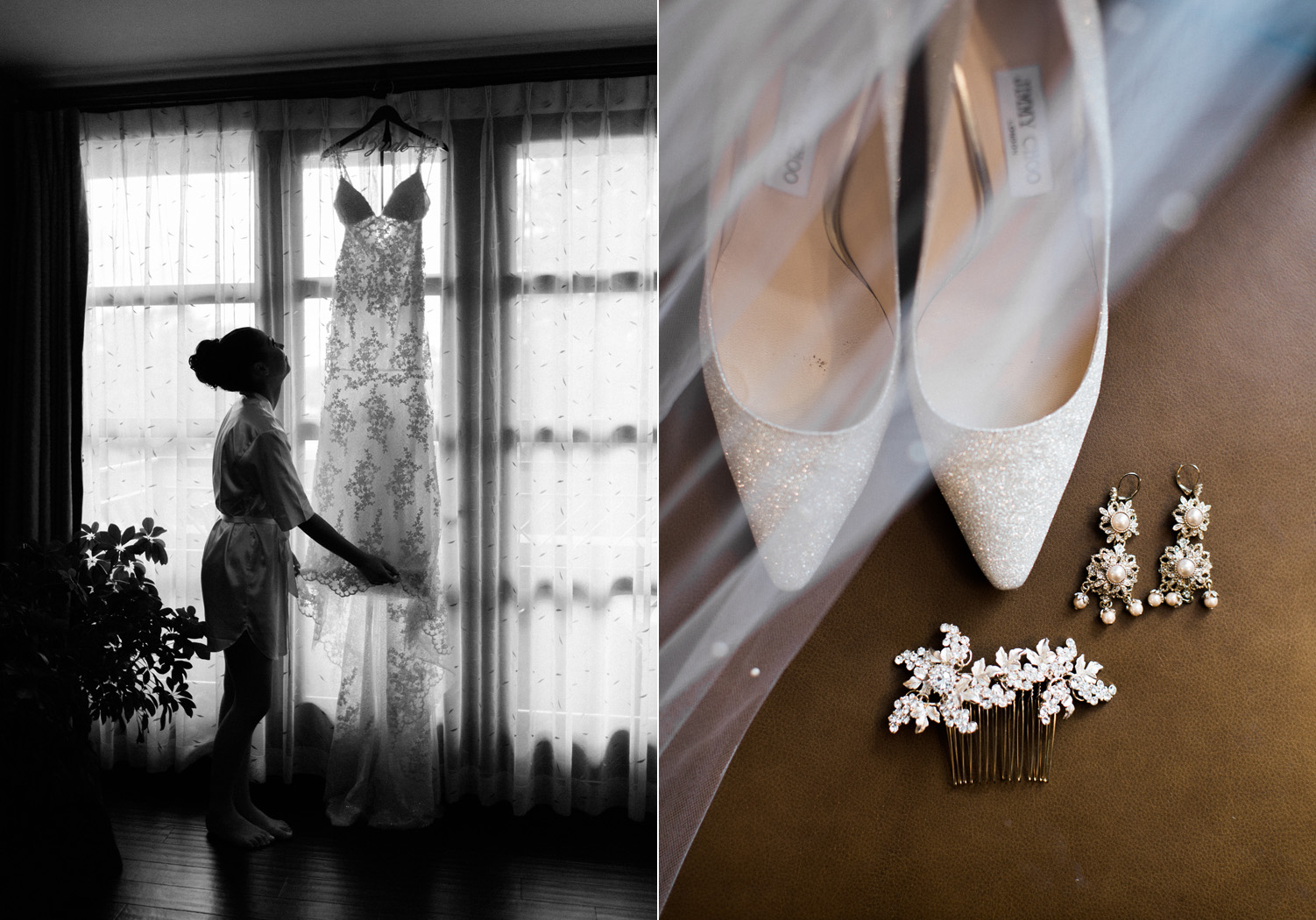 The Bellevue Club Wedding Photography with Jimmy Choo Shoes