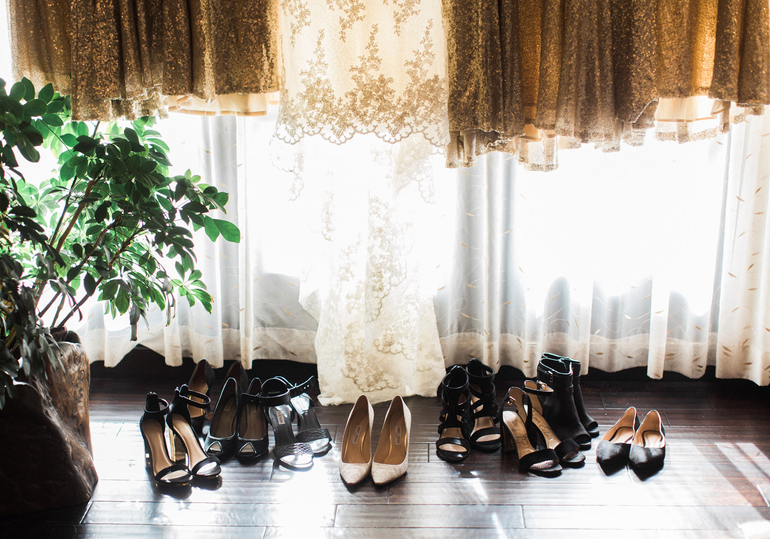 The Bellevue Club Wedding Photography with a Nordstrom wedding dress