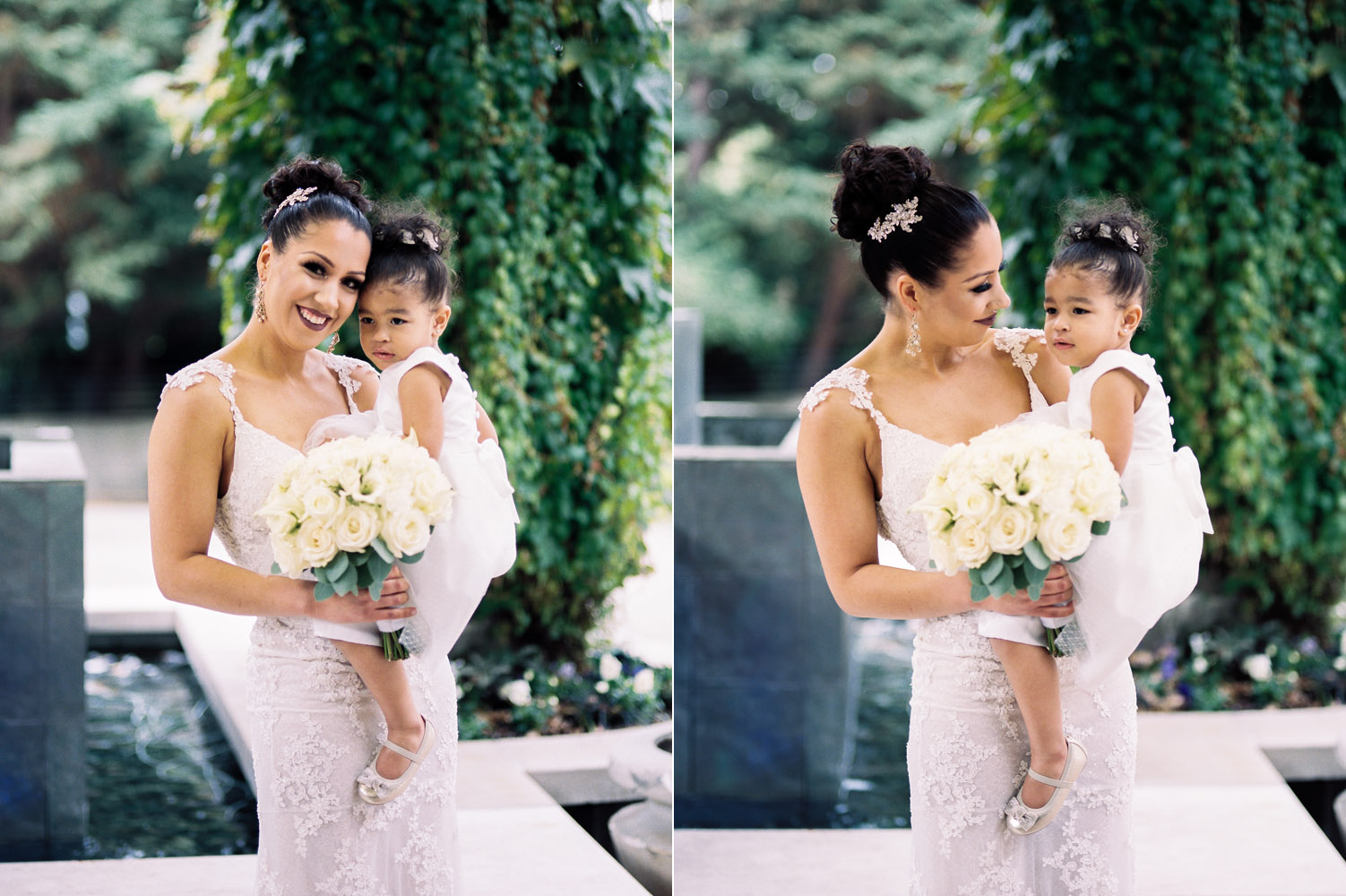 The Bellevue Club Wedding Photography Bride and daughter together