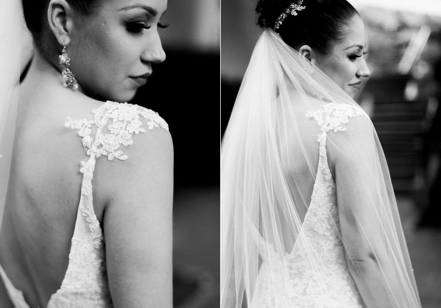 black and white bride portraits lace dress.jpg
