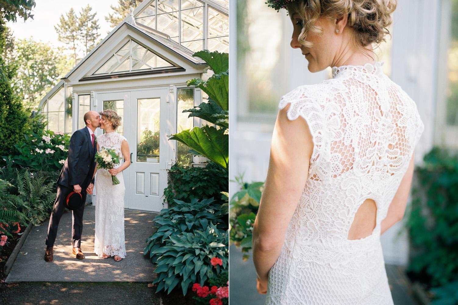 volunteer park conservatory intimate wedding couple seattle.jpg