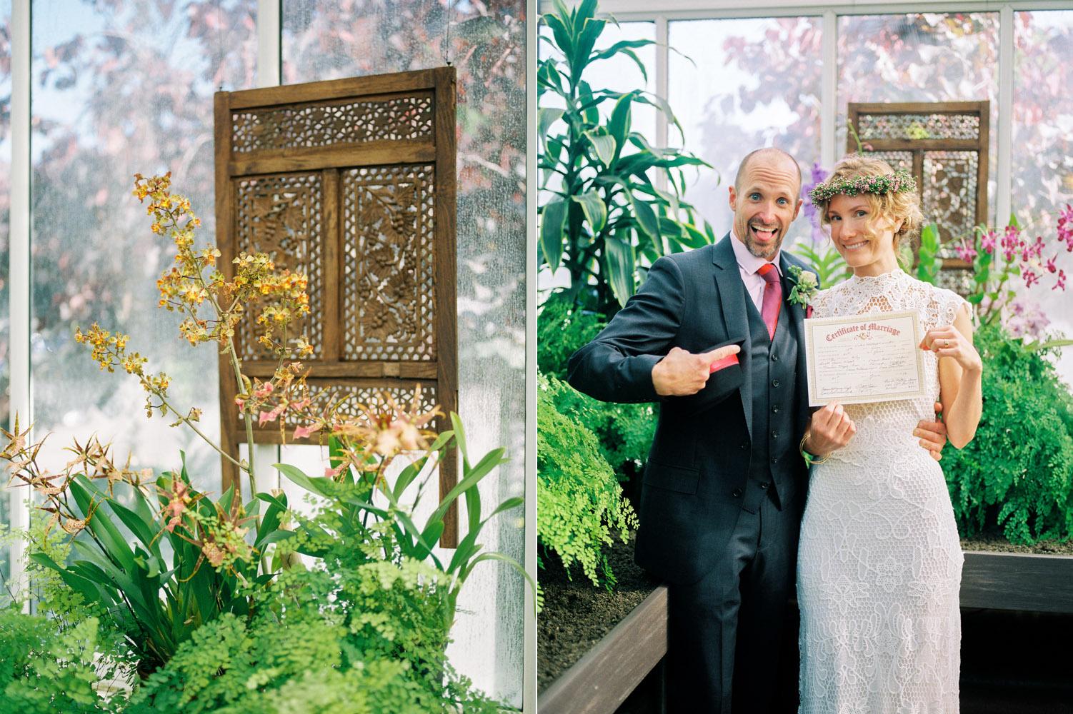 seattle conservatory elopement wedding kodak portra 800 film.jpg