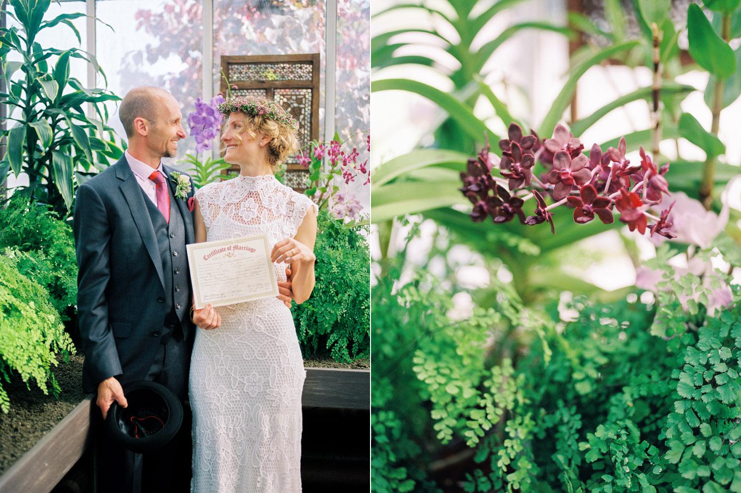 seattle volunteer park conservatory elopement portra 800 kodak.jpg