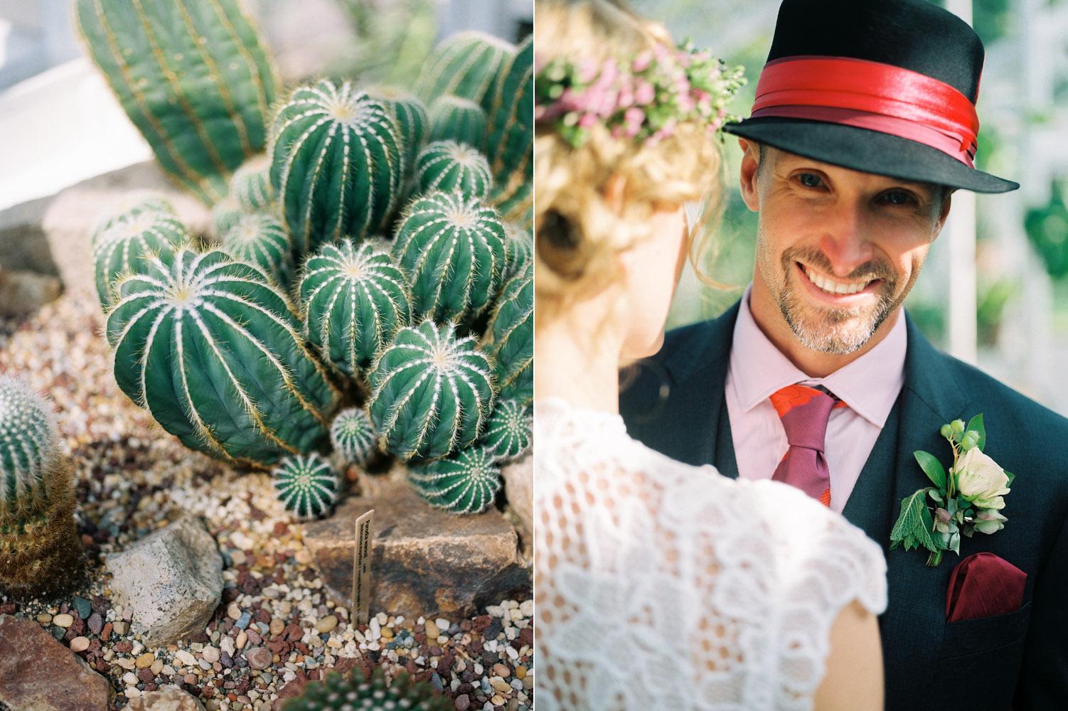 volunteer park conservatory intimate wedding elopement couple portraits.jpg