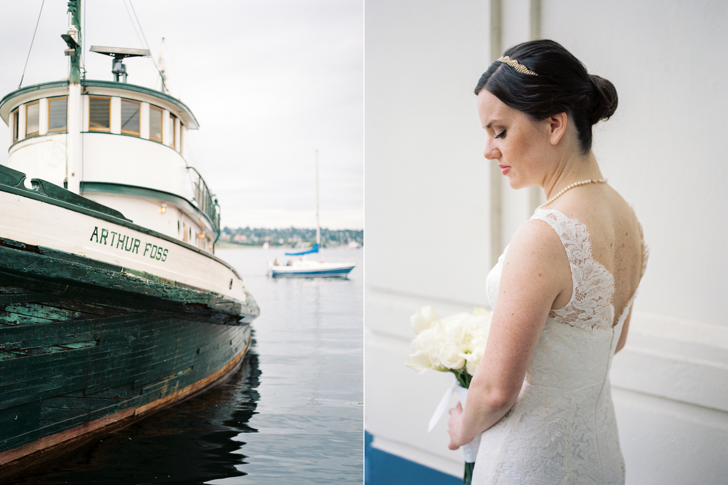 Seattle Museum of History and Industry Bridal and Wedding Photography