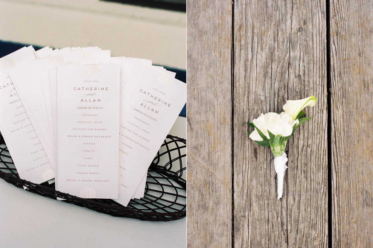 seattle mohai wedding details white wedding program.jpg
