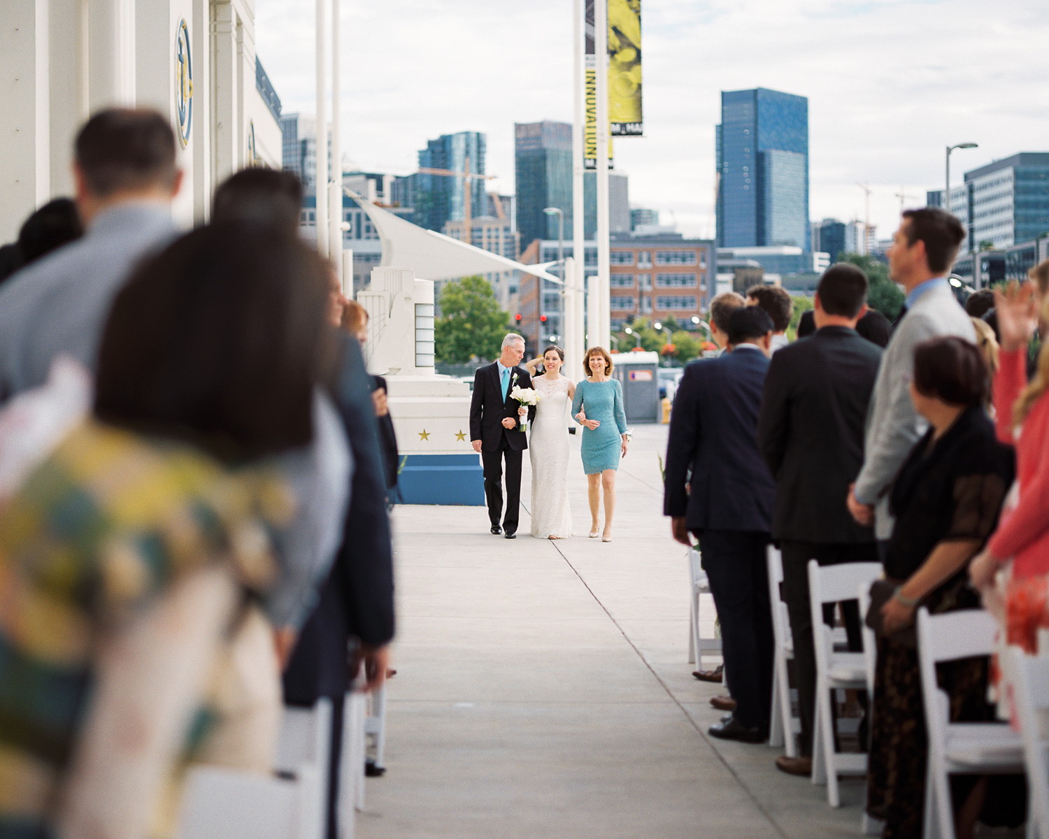 Seattle Museum of History and Industry Wedding Ceremony Photography
