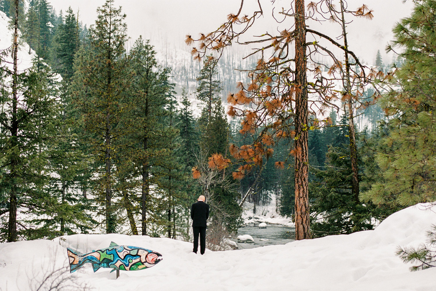 Sleeping Lady Mountain Resort in Leavenworth Winter wedding photography by Icicle Creek