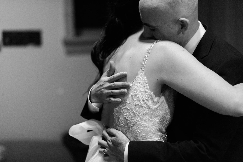 Bride and Groom Hug After Ceremony Leavenworth Washington Wedding.jpg