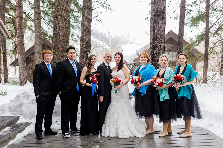 Sleeping Lady Resort Winter Wedding Bridal Party.jpg