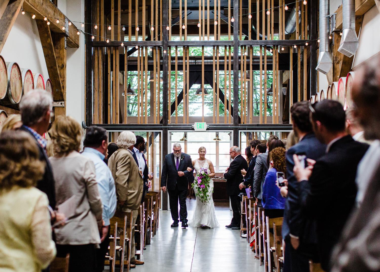 Westland Distillery Indoor Wedding Venue Ceremony Room by Alexandra Knight Photography