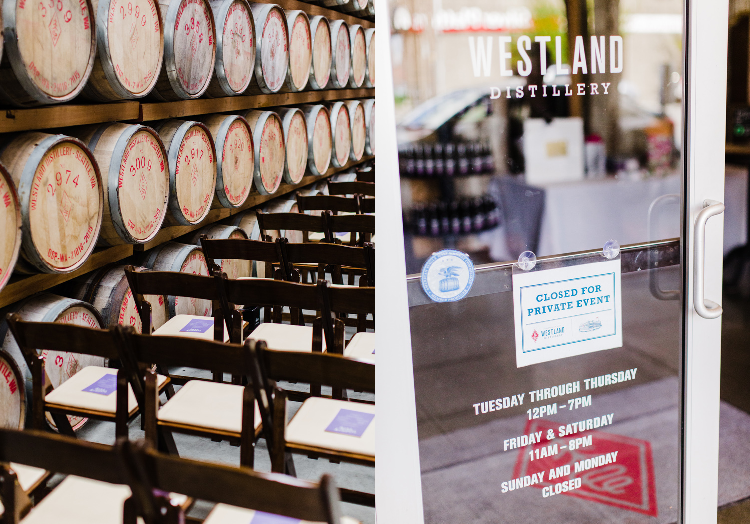 Westland Distillery Seattle SODO District Wedding Venue by Alexandra Knight Photography