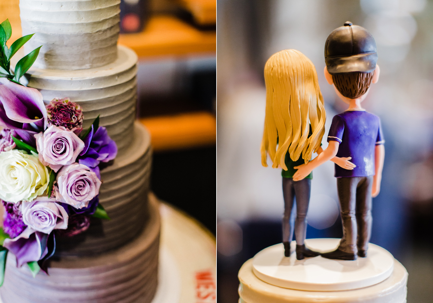 Seattle SODO Wedding Funny Cake Topper at Westland Distillery Seattle Wedding Photographer