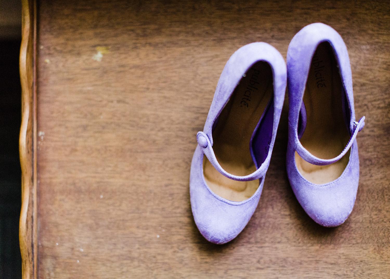 Westland Distillery Wedding Purple Wedding Shoes.jpg